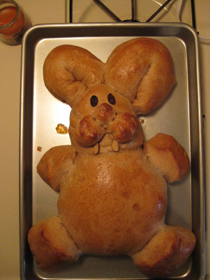 Easter Bunny bread..this looks like the shine and color of my LOST ...