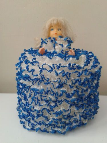 KNITTED DOLL TOILET ROLL COVER