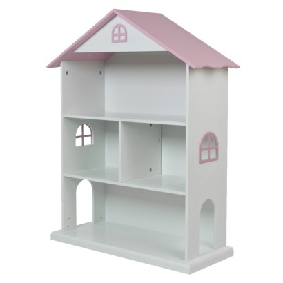 Dollhouse Kids Bookcase - White/Pink