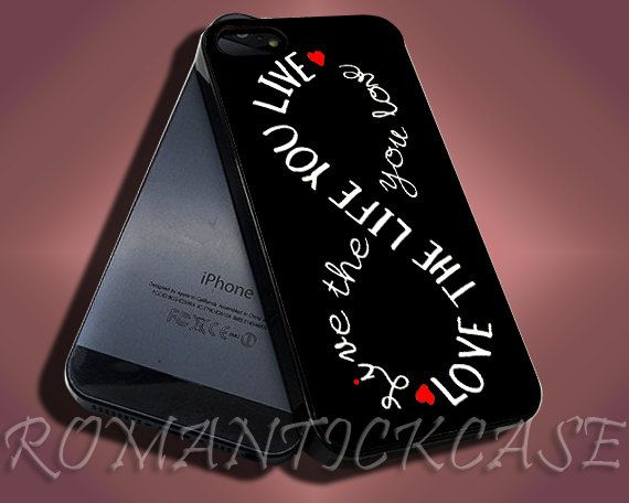 Love The Life Infinity Quote B iPhone by ROMANTICKCASE on Etsy, $14.77