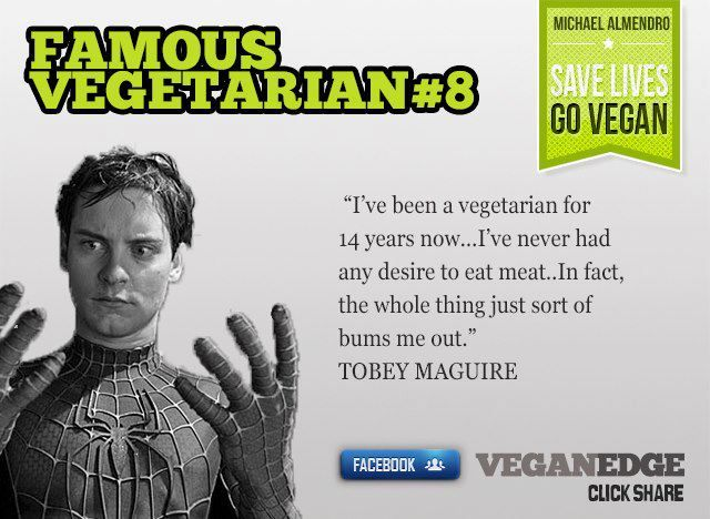 Famous Vegetarian Quot... Tobey Maguire