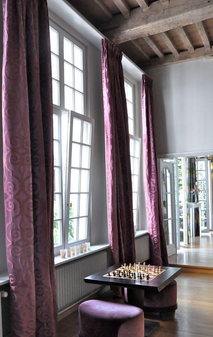 Love these royal purple velvet drapes addison house pinterest