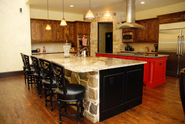 Custom double island kitchen designs for Dual island kitchen designs