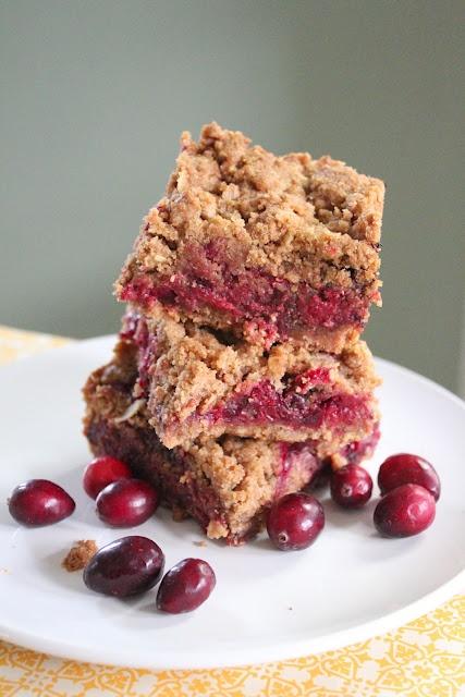 Eat Good 4 Life: Healthier cranberry crumble bars