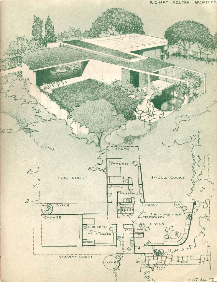 Richard neutra architect modern mid century pinterest for Home plan architect