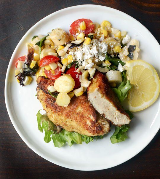 ... Breasts with Corn & Tomato Summer Salad — Recipes from The Kitchn