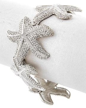 Silver Tone Starfish Bracelet<3