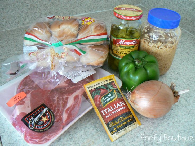 Slow Cooker Italian Beef Sandwich Recipe....made this tonight and it ...