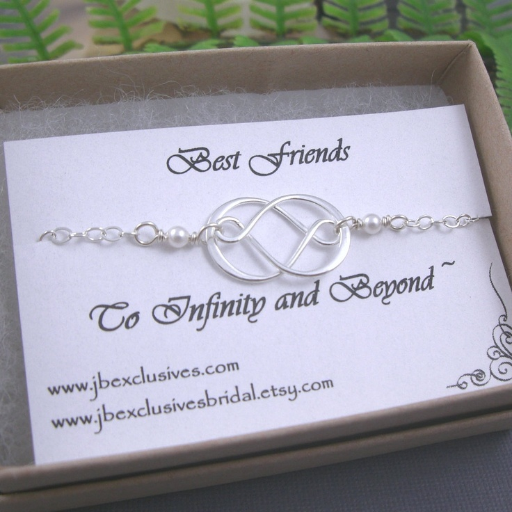 Wedding Gift For Friend How Much : ... gift, wedding jewelry, sterling silver infinity love necklace, bridal