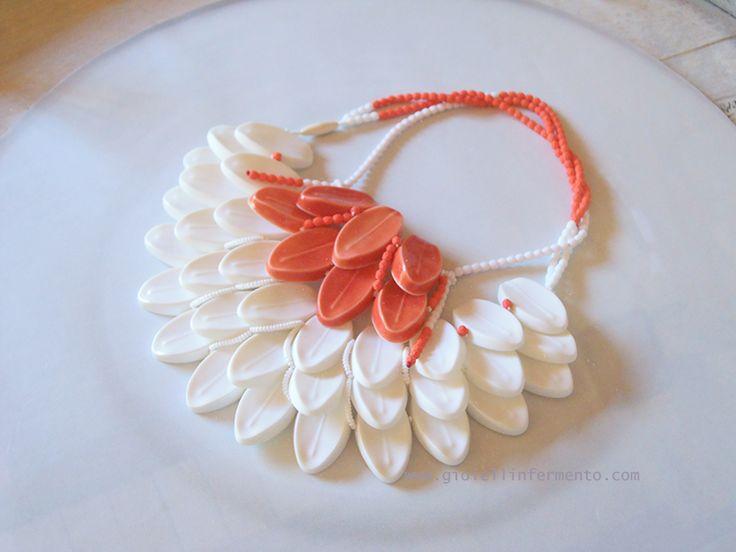 "Eun Mi Kwon necklace ""likeleaf #7"" necklace Montblanc porcelain .."