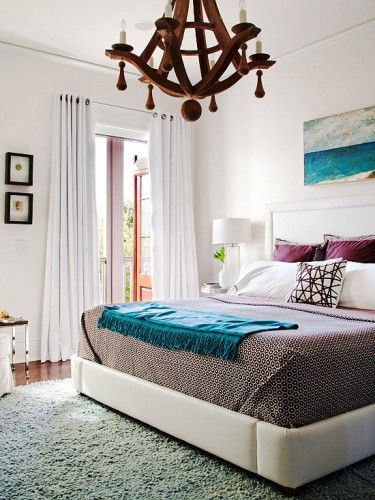 White walls in bedroom