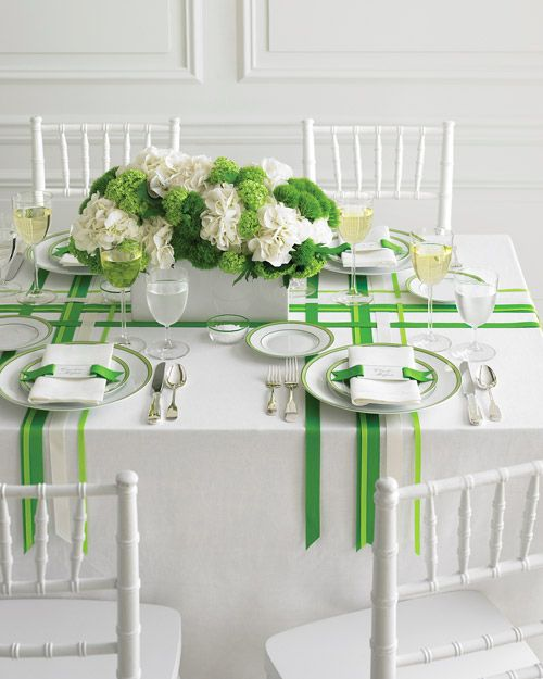 summer lunch/dinner party place setting