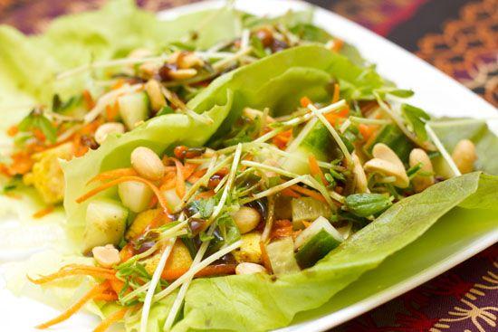 Thai Chicken Lettuce Wraps | Food - Chicken | Pinterest