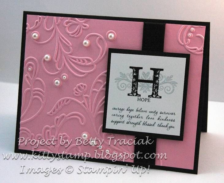 Strength and hope digital hybrid card by kittystamp cards and paper
