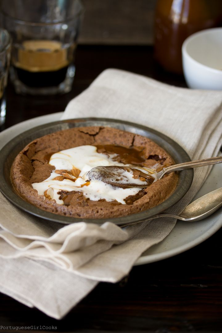 Baked Hot Chocolate Pudding from Portuguese Girl Cooks