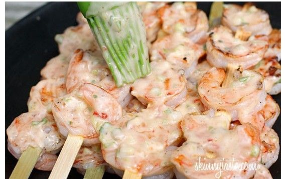 Bangin' Grilled Shrimp Skewers | Appetizers and Snacks | Pinterest