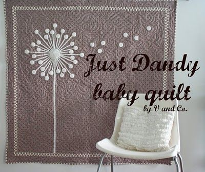 v and co tutorials. It says it's a baby quilt, but I'd hang it on my wall.