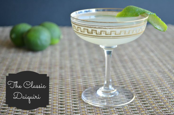The Classic Daiquiri is actually a super simple cocktail - rum, lime ...