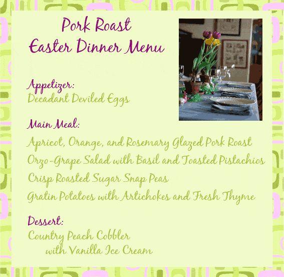 Roast pork easter dinner menu food pinterest for Easy easter menu ideas