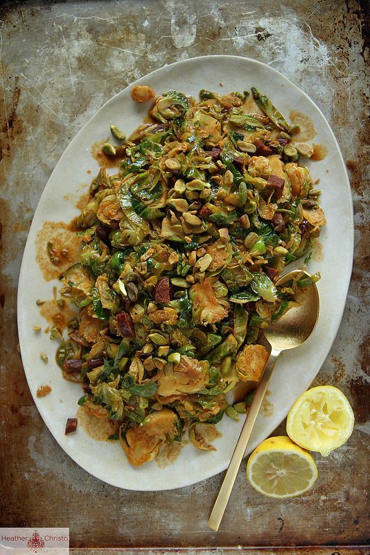 Shredded Brussels Sprouts with Chorizo and Paprika | Recipe