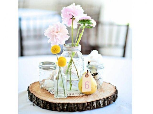 mariage champetre centre de table 2 deco mariage pinterest. Black Bedroom Furniture Sets. Home Design Ideas