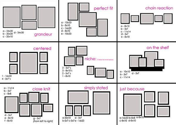 picture wall arrangement ideas 3 for the home pinterest. Black Bedroom Furniture Sets. Home Design Ideas