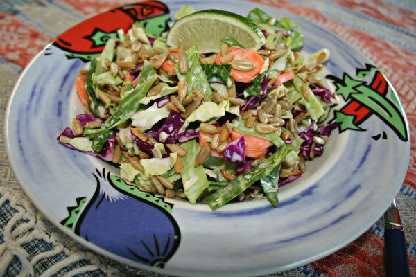 Cabbage Slaw Two Ways: Asian Peanut & Mexican Spicy Lime