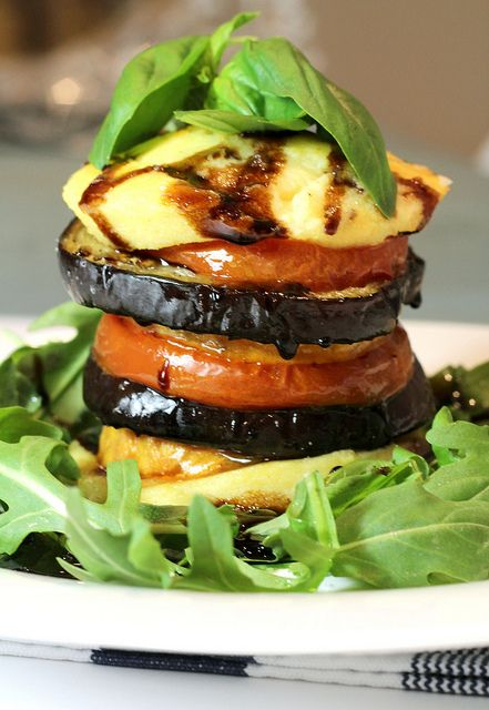Polenta and Vegetable Stack | I'm a fat girl trapped in a skinny body ...