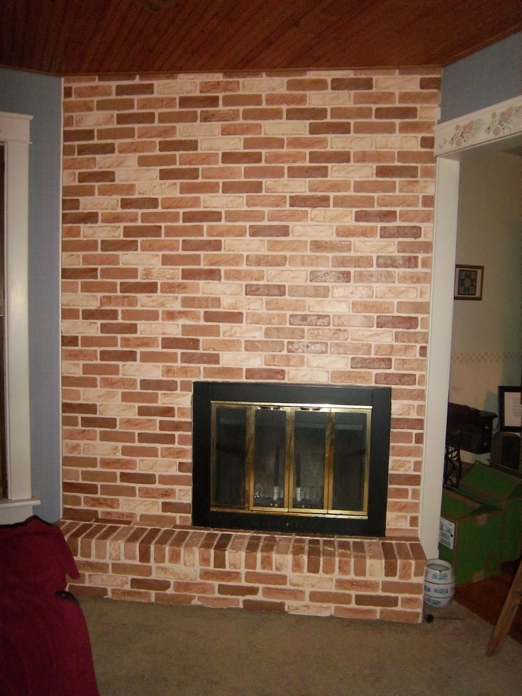 after faux brick painting technique decorate pinterest