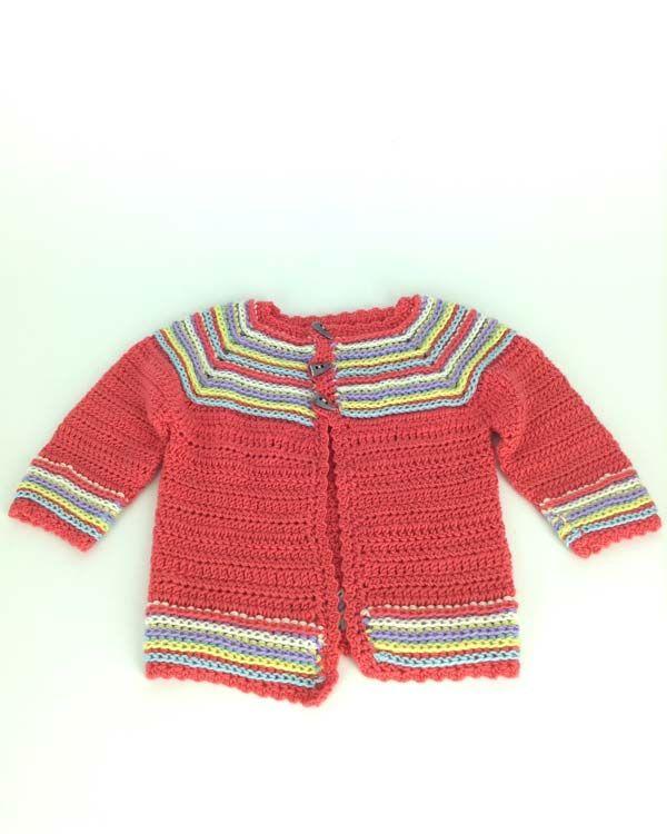 Cutie Bug Cardigan made with Primo Yarn. | CROCHET FREE PATTERNS | Pi ...