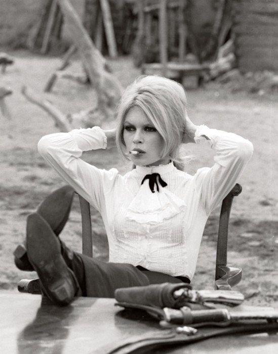 Brigitte Bardot on the set of Shalako, 1968, in Almería, Spain.