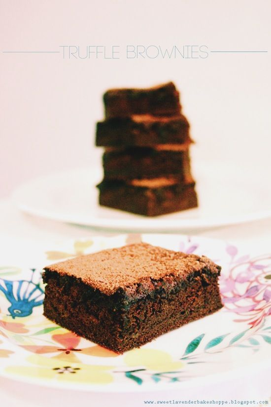 truffle brownies | good enough to eat | Pinterest