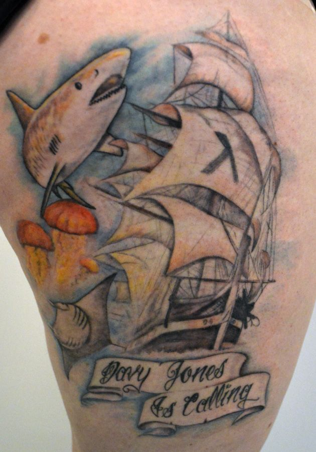 Pirate Ship Leg  Tattoos By Jim Pinterest