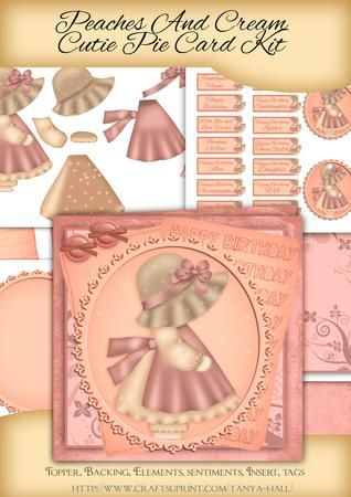 Peaches And Cream Cutie Pie | Hand Made Card Crafting Kits | Pinterest