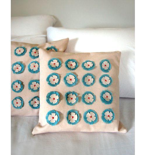 felt flower pillow #felt #pillow