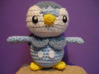 Crochet Patterns Pokemon Characters : Piplup - Pokemon Character - Free Amigurumi Pattern