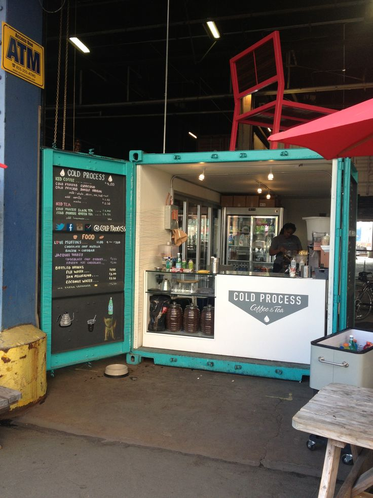 Shipping Container Kiosk Food Stall Inspiration Pinterest