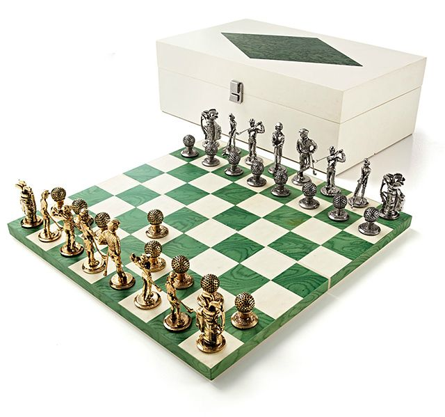 Fancy Golf Chess Set The Games