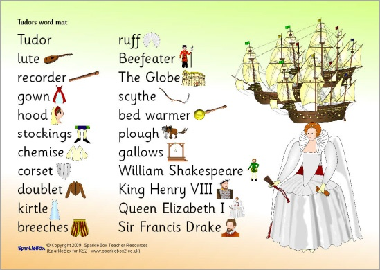 Tudors word mat (SB5704) - SparkleBox | Home Schooling- World History ...