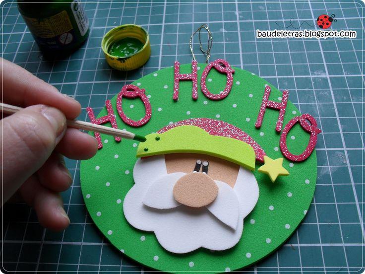 Passo a passo, de enfeite para árvores de Natal, reciclando CD