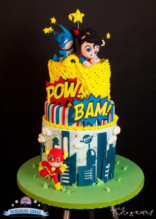superheroes baby shower cake superhero baby shower pinterest