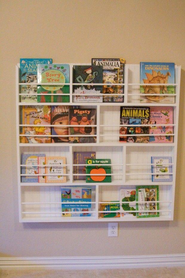 Easy cheap diy bookshelf for the home pinterest for Diy kids bookshelf ideas