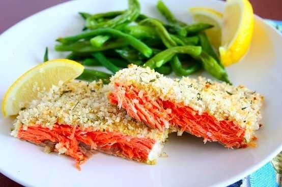 Panko crusted salmon with dijon mustard. | Bon Appetite! | Pinterest