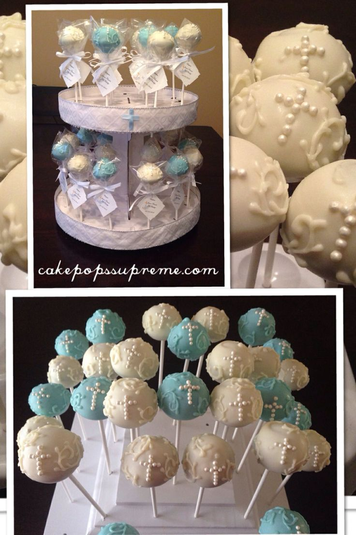 Cake Pops Ideas For Baptism : Baptism cake pops Cake Pops Supreme Pinterest