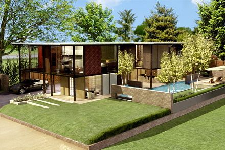 Modular mcm house mid century contemporary modern for Mid century modern modular homes