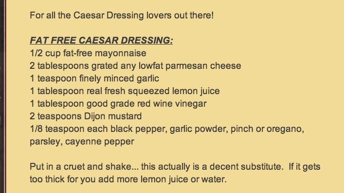Skinny Caesar Salad Dressing   Salad Dressings   Pinterest