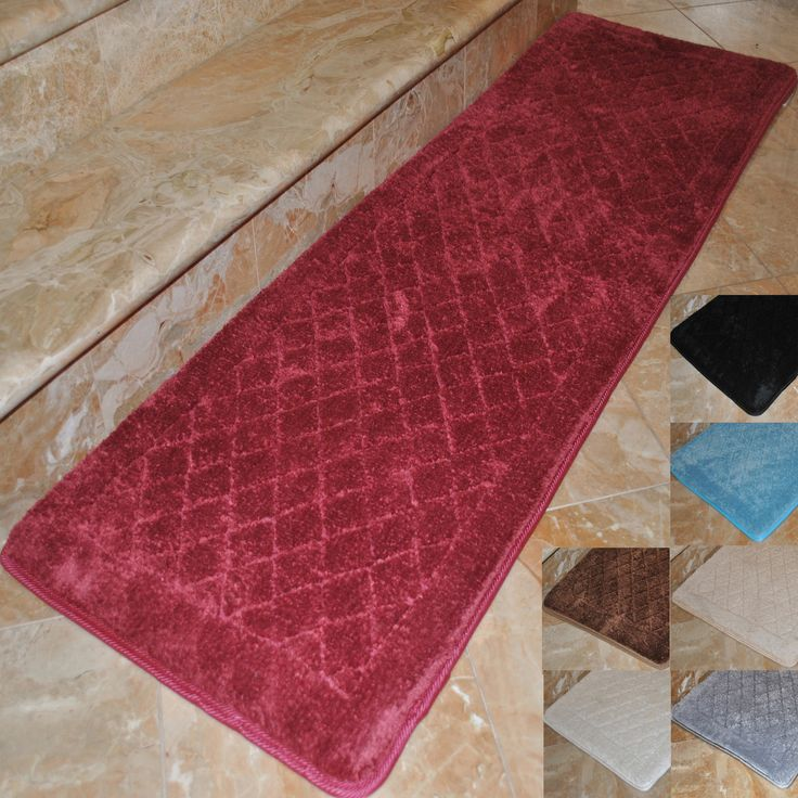 Red bathroom rug