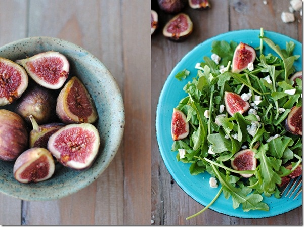 Gosh this fig & rocket salad #recipe is beautiful! Can't wait to make...