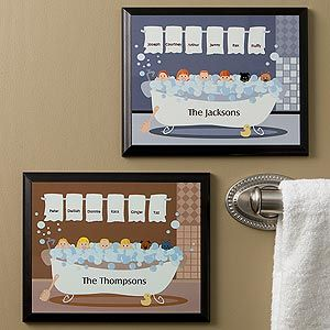 Bathtub Family Characters Collection© Personalized Plaque