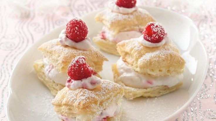 ... sweet, cream mixture flavored with fresh raspberries and almond